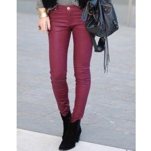 CAbi Bordeaux Skinny Curve Stretch Jeans